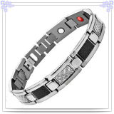 Stainless Steel Bracelet Fashion Jewelry with Carbon Fiber (HR1303)