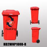 240L Plastic Garbage Bin Rubber Wheel Trash Can for Outdoohd2wnp240b-R
