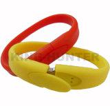 Bulk Custom Silicone Bracelet Wrist Band USB Stick Drives