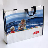 Recycle Carrier Hand Shopping Laminated PP Woven Bag