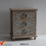 Farm Antique Shabby Chic Wooden Bedside Cabinet