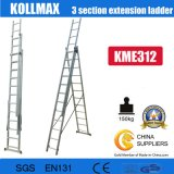 Aluminium 3 Section Extension Ladder 3X12