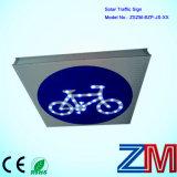 Long Lifespan Solar Powered Traffic Sign / LED Flashing Road Sign