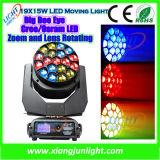 19X15W RGBW Bee Eye Moving Head LED Effect Lights