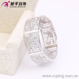 New Fashion Silver Big Wider Luxury Bangle Plated with Flowers