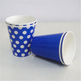 Disposable&Eco-Friendly Blue Dots Color Printed Paper Cups