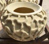 Outdoor Flower Pot Sandstone Polyresin Sculpture Statue