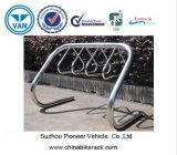 Stainless Steel Mounted Bike Rack Park 7 Bikes
