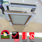 Cheap Price Woodcolor Plastic Frame Glass Tilt and Turn Window