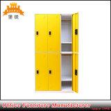 Colorful 6 Door Dormitory Steel Digital Locker