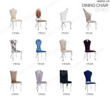 Wholesale Modern Luxury Leather Fabric Stainless Steel Hotel Dining Chairs