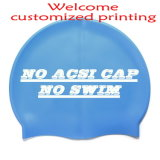 Customized Printing Logo Silicone Swimming Cap with Lowest Price
