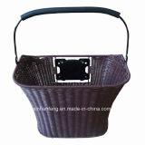 Plastic Rattan Bicycle Basket for Bike (HBK-105)