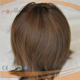 Full Poly Coated High End Injected Brown Color Mens Wig Hair Piece, Mens Toupee