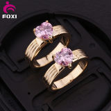 Fashion Plated 18k Gold and White Gold CZ Rings