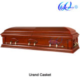 Velvet Interior High Gloss Veneer American Coffin and Casket