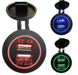 Dual USB Car Cigarette Lighter Socket Splitter Charger Power Adaptor Outlet BS