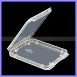 Transparent Eco-Friendsly Plastic Case CF Card Box Memory Card Case