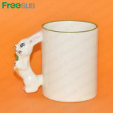 Freesub 11oz Sublimation Animal Mugs- Rabbit Mug (MKB13)