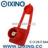 Qixing Cam-Lock Panel Mounted Plug IP44 400A 600V Red