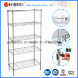 DIY Light Duty Chrome Metal Wire Book Rack for Office