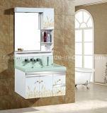 PVC Bathroom Vanity with Mirror Cabinet Furniture Sanitaryware