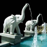 Animal Marble Elephant Fountain Carcing Sculpture