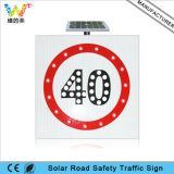 Road Safety LED Traffic Aluminum Solar Speed Limit Sign