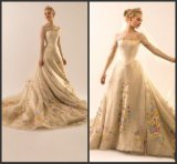 Embroidery Bridal Gowns Illusion Sleeves Wedding Dresses Y1010