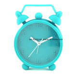 Unbreakable Kid′s Home Decoration Sound off Double Bell Silicone Table Alarm Clocks