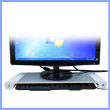 Metal Space Bar Desk Organiser Computer Monitor Stand with USB 4 Ports Charger Us/EU/Au/UK