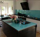 High Quality Kitchen Tempered Black Glass Worktops