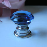 Wholesales Jewelry Box Mini Blue 20mm Crystal Knob with Hardware Base