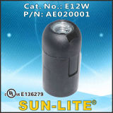 E12 Candelabra Base Plastic Lampholder; E12W