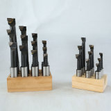 High Quality 6PCS/Set Wooden Stand Carbide Tipped Boring Bars