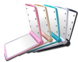 Plastic with 8 Lights Square Pocket LED Makeup Mirror