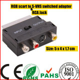 Scart Plug to S-Vhs Plus RCA Jack Switched Adapter (SY067)