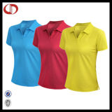 100% Polyester Fitted Sport Shirt Polo Women