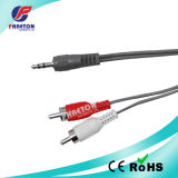 Grey 3.5mm Stereo to 2RCA AV Cable