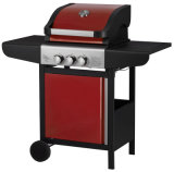 Outdoor Freestanding 2 Burner BBQ Gas Grill with Side Burner