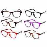 Fashionable Slim Injection Design Reading Glasses with Spring Hinge