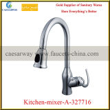 Brass Deck Mounted Pull-out Kitchen Water Mixer