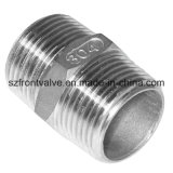 Investment Casting Stainless Steel Threaded Hexagon Nipple