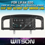 Witson Car DVD Player with GPS for Lifan 620 (W2-D8363L) Front DVR Capactive Screen OBD 3G WiFi Bluetooth RDS