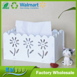Fashion DIY Design White Carve Patterns Tissue Boxes