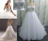 Heavily Crystals Beaded Wedding Dress