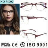 Latest Designer Oval Half-Rim Eyeglasses Frames Custom Metal Optical