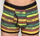 2016 BSCI Oeko-Tex 100 Men′s Underwear Boxer 032905 Dyed Yarn