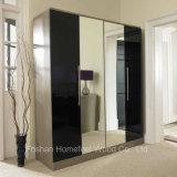 Ottawa 4 Door Wardrobe with Mirror (HF-EY007)