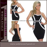 Sexy Spaghetti Straps Women Bandage Bodycon Celebrity Cocktail Dresses (N184)